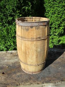 Vintage Nail Keg Small Barrel 18 H 10 Diameter Wedding Prop Barn Event
