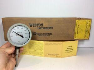 Weston Model 4330 Thermometer Gauge 30 240 Fahrenheit Steampunk 2 Stem 3 Face