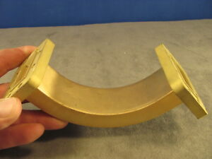 Waveguide Wr137 C band Sweep E bend a 4 00 x b 4 00 Cprg Both Ends 183