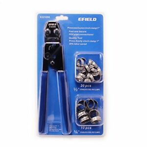 Efield Pex Cinch Clamp Crimping Tool For Clamps Sizes 3 8 To 1 With Go no go