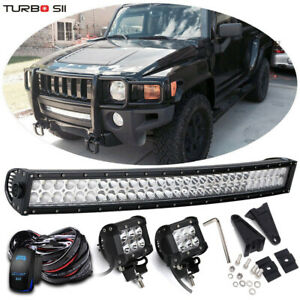 For 2006 10 Hummer H3 30 32inch Led Light Bar universal Brackets Pods wiring