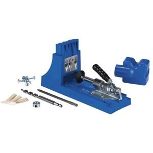 Jig K4 Pocket Hole System For Bench Top Portable Woodworking Build Drill Tools
