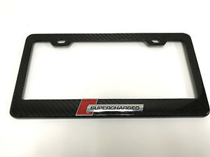 3d supercharged Handmade Real Carbon Fiber License Plate Frame Tag 3k Twill 1