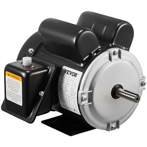 Electric Motor 1 1 2 Hp Single phase 3450rpm Tefc 5 8 Shaft General 2 Pole