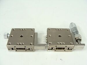 2 X 40mm X 40mm X y Axis Adjustable Linear Positioner Stage Table W Micrometer