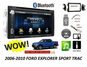 2006 2010 Ford Explorer Sport Trac Bluetooth Touchscreen Dvd Cd Usb Car Stereo