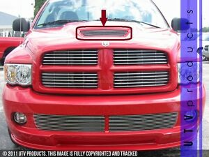 Gtg 2004 2006 Dodge Ram Srt10 1pc Polished Overlay Hood Scoop Billet Grille