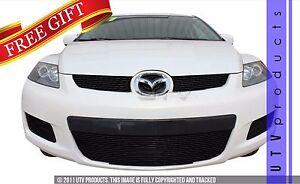 Gtg 2007 2009 Mazda Cx7 3pc Gloss Black Overlay Billet Grille Grill Kit