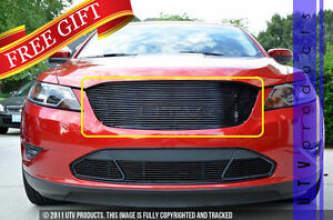 Gtg 2010 2012 Ford Taurus 1pc Gloss Black Upper Replacement Billet Grille