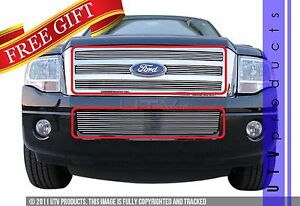 Gtg 2007 2014 Ford Expedition 5pc Polished Custom Insert Billet Grille Kit