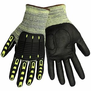 Global Glove Cia609 Aralene Kevlar Foam Nitrile Cut Resistant Work Gloves 72 Ct
