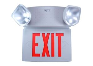 Philips Chloride Cctx Series Red Letter Emergency Exit Led Combo Sign Cctxl3rw
