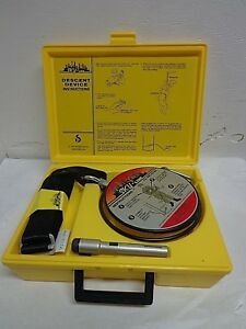 Sky line Emergency Safety Reel Descent Device Escape 50ft 250lbs For Home work