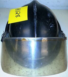 Firefighter Bunker Turn Out Gear Black Helmet Reflector Visor Lite Force H128