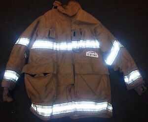 52x40 Firefighter Jacket Coat Bunker Fire Turn Out Gear Globe Gxtreme J409