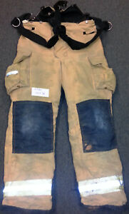 40x36 Pants With Suspenders Firefighter Turnout Bunker Fire Gear Fire dex P730