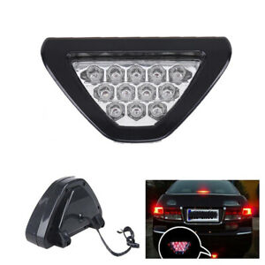 Universal F1 Style 12led Red Car Third Rear Tail Brake Stop Safety Lights Lamp