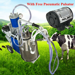 25l Electric Milking Machine For Farm 304 Stainless Steel pneumatic Pulsator Us