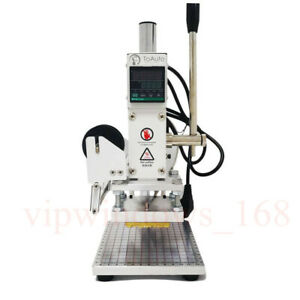 8 10cm 110v Stamping Machine Leather Logo Hot Foil Press Marking Pu Stamper
