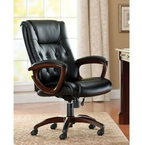 Leather Office Chair Executive Desk Chairs High Back Swivel Seat Computer Gaming