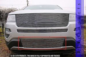 Gtg 2016 2017 Ford Explorer 1pc Polished Replacement Bumper Billet Grille