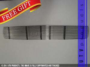 Gtg 1964 1 2 1966 Ford Mustang 1pc Polished Upper Overlay Billet Grille Grill