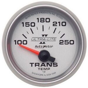 Auto Meter 4949 Gauge Transmission Temp 2 1 16 100 250 Electric Ultra Liii