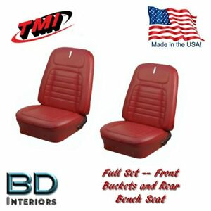 1968 Chevy Camaro Deluxe Front Rear Seat Upholstery Red By Tmi Products