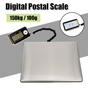 Digital Lcd Postal Shipping Scale 150kg 100g Weight Postage Kitchen Counting Usa