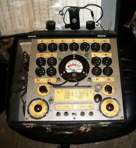 rare Hickok Diamond Point 3500 Jr Tube Tester Adapters Chart Instructon