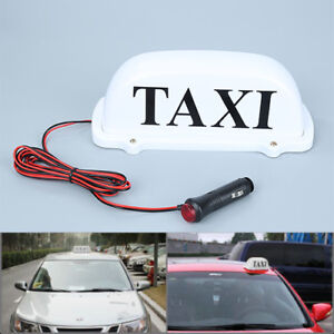 White Led Taxi Cab Top Sign Light Lamp Roof Magnetic Dc 12v Taxi Hire Light Abb