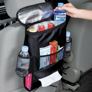Car Back Seat Multi Pocket Insulated Travel Storage Bag Tidy Organizer Pratical