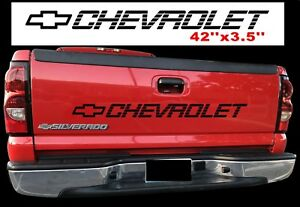 Chevy Bow Decal Silverado Tailgate Sticker Pickup Truck 1500 1990 2018 Vehicle