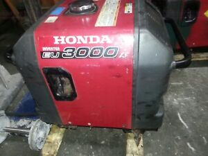 Used Honda Generator Eu3000i Eu3000 Watt Portable Quiet Inverter Gas Power