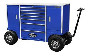Extreme Tools Txpit7009bl 70 Pit Box W 7 Drawers 2 Side Compartments Blue
