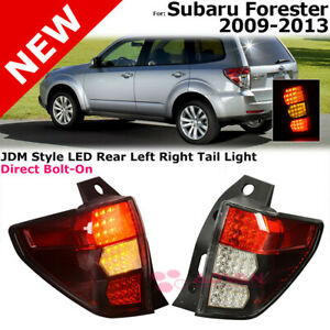 Jdm Style Tail Lights Lamps For 09 13 Subaru Forester Rear Driver Passenger Side