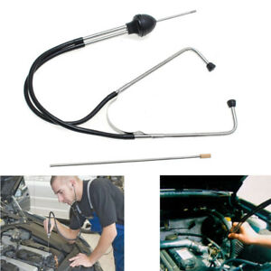1x Auto Car Mechanics Stethoscope Rubber Hearing Tools Engine Block Diagnostic