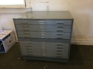 10 Drawer Flat File Blueprint Cabinet With Base 40 1 2 W