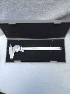 Excellent Mitutoyo 8 Inch Dial Caliper 505 644 50 d8t machinist Tools Brazil
