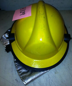 Firefighter Bunker Turnout Gear Yellow Helmet Reflector Bpr Lite Force Prox H109