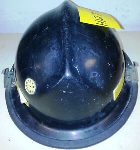 Firefighter Bunker Turn Out Gear Black Helmet Reflector Lite Force H127