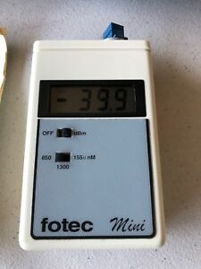 Fotec M702a Mini Fiber Optic Tester In Great Working Condition