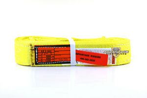 Ee2 902 X8ft Nylon Lifting Sling Strap 2 Inch 2 Ply 8 Foot Usa Made Package Of 4