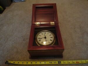 Vintage Colonial Molyneux Nautical Desk Clock Maritime Ship Instrument Nice