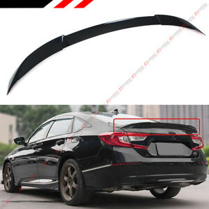 For 2018 2020 Honda Accord Jdm V Type Painted Black Pearl Trunk Lid Spoiler Wing