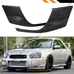 For 2004 05 Subaru Impreza Wrx Sti Gd 2pc Front Bumper Side Splitters Covers Cap