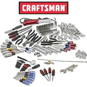 New Craftsman 144pc Mechanics Tool Set All Sae Wrench Nut Pliers Deep Socket