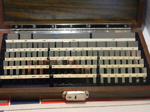 Starrett Webber 81 Pc Rectangular Croblox Gauge Block Set