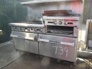 Imperial Range 60in Restaurant Range 6 Gas Burner W 24in Griddle 2 Ovens Cheap
