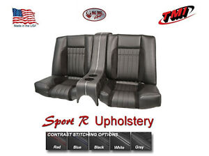 Sport R Rear Seat Upholstery W Console Foam For 1969 Camaro W 53 Nf Seat